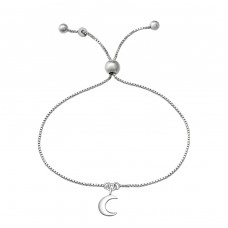 Moon - 925 Sterling Silver Bracelets with silver chain A4S37469