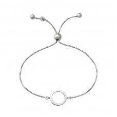 Circle - 925 Sterling Silver Bracelets with silver chain A4S37470