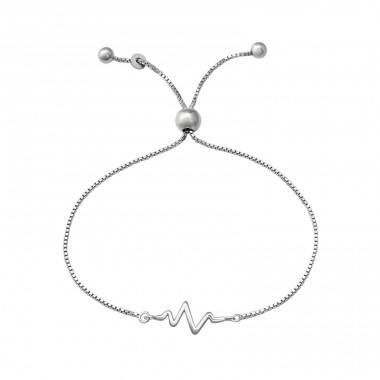 Heartbeat - 925 Sterling Silver Bracelets with silver chain A4S37471