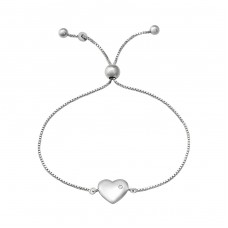 Heart - 925 Sterling Silver Bracelets with silver chain A4S37474
