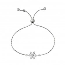 Snowflake - 925 Sterling Silver Bracelets with silver chain A4S37476