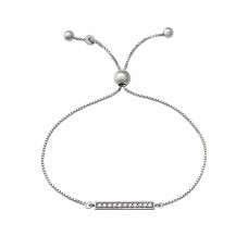 Bar - 925 Sterling Silver Bracelets with silver chain A4S37477