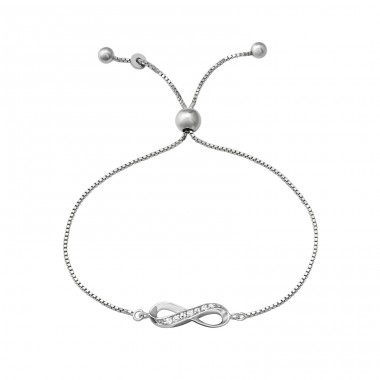 Infinity - 925 Sterling Silver Bracelets with silver chain A4S37478