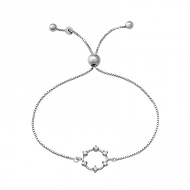 Wreath - 925 Sterling Silver Bracelets with silver chain A4S37479