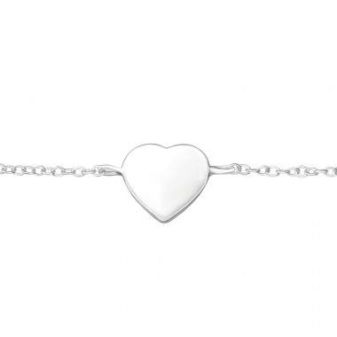 Heart - 925 Sterling Silver Bracelets with silver chain A4S37550