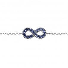 Infinity - 925 Sterling Silver Bracelets with silver chain A4S38044