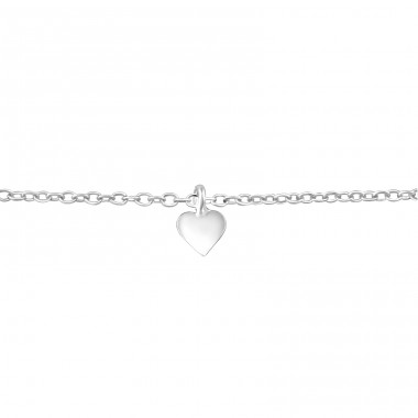 Heart - 925 Sterling Silver Bracelets with silver chain A4S38514