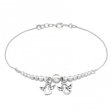 Angel - 925 Sterling Silver Bracelets with silver chain A4S39103