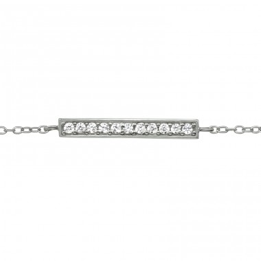 Bar - 925 Sterling Silver Bracelets with silver chain A4S39184