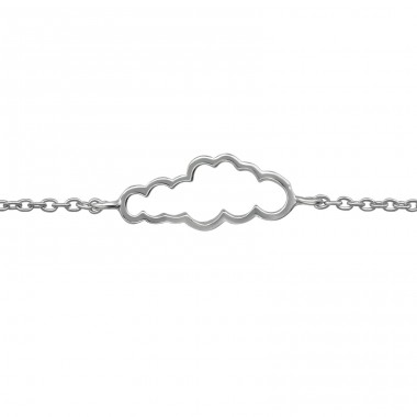 Cloud - 925 Sterling Silver Bracelets with silver chain A4S39257