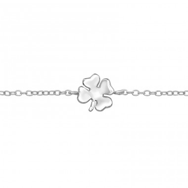 Lucky Clover - 925 Sterling Silver Bracelets with silver chain A4S39343