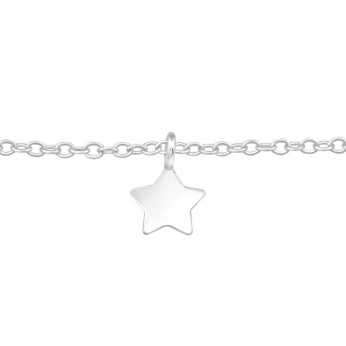 Star - 925 Sterling Silver Bracelets with silver chain A4S39375