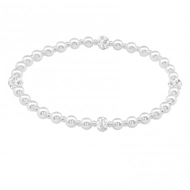 Ball - 925 Sterling Silver Bracelets with silver chain A4S39624