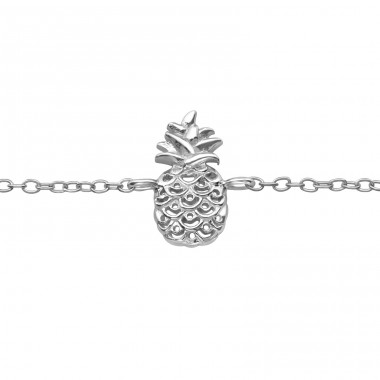 Pineapple - 925 Sterling Silver Bracelets with silver chain A4S39717
