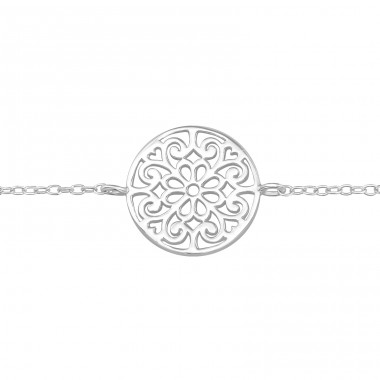 Filigree - 925 Sterling Silver Bracelets with silver chain A4S40441