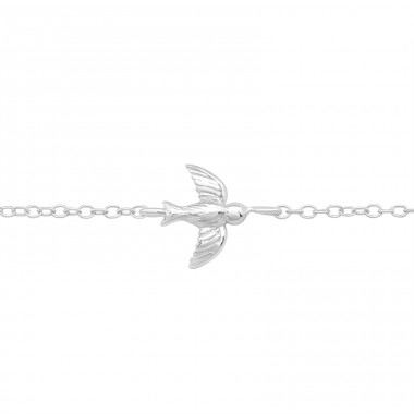 Flying Bird - 925 Sterling Silver Bracelets With Silver Chain A4S40442