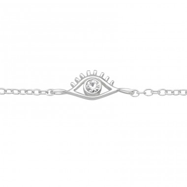 Evil Eye - 925 Sterling Silver Bracelets with silver chain A4S40531