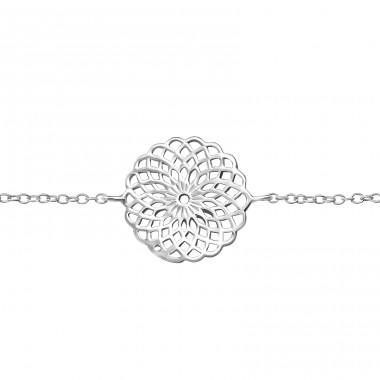 Mosaic - 925 Sterling Silver Bracelets with silver chain A4S41798