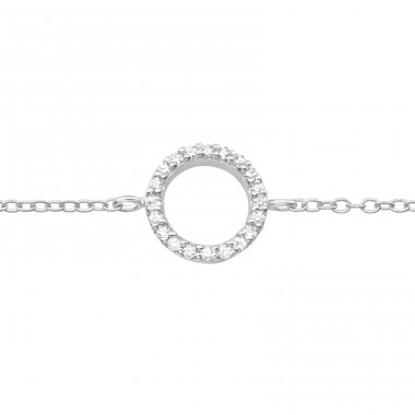 Circle - 925 Sterling Silver Bracelets with silver chain A4S42615