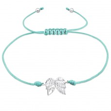 Wings - Nylon Cord + 925 Sterling Silver Bracelets with cords A4S25464