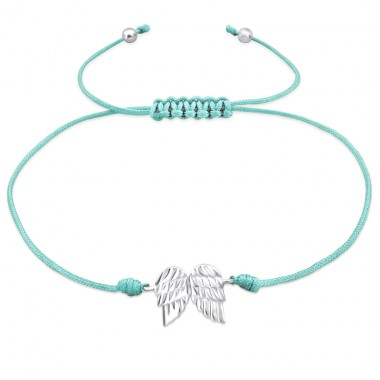 Wings - 925 Sterling Silver + Nylon Cord Bracelets with cords A4S25464