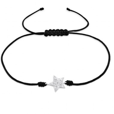 Star - Nylon Cord + 925 Sterling Silver Bracelets with cords A4S25473