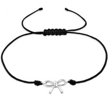 Bow - Nylon Cord + 925 Sterling Silver Bracelets with cords A4S25481