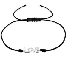 Love - Nylon Cord + 925 Sterling Silver Bracelets with cords A4S25482