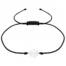 Snowflake - 925 Sterling Silver + Nylon Cord Bracelets with cords A4S36208