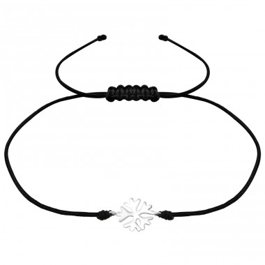 Snowflake - Nylon Cord + 925 Sterling Silver Bracelets with cords A4S36208