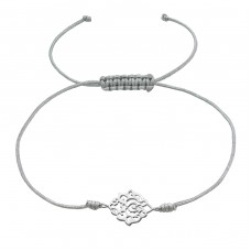 Filigree - 925 Sterling Silver + Nylon Cord Bracelets with cords A4S37374