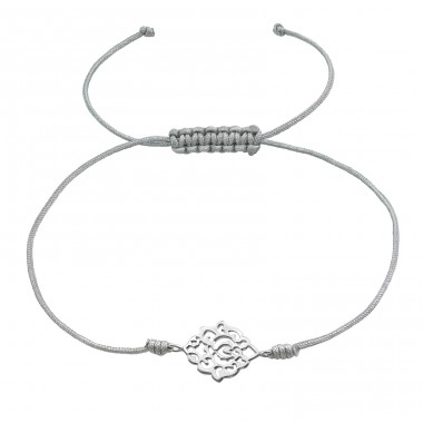 Filigree - Nylon Cord + 925 Sterling Silver Bracelets with cords A4S37374