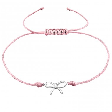 Bow - Nylon Cord + 925 Sterling Silver Bracelets with cords A4S38181