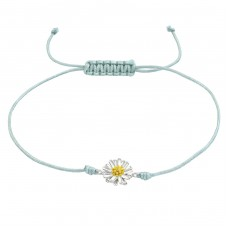 Flower - Nylon Cord + 925 Sterling Silver Bracelets with cords A4S38357