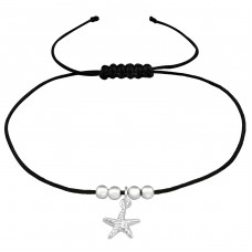 Starfish - Nylon Cord + 925 Sterling Silver Bracelets with cords A4S38994