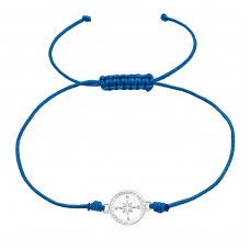 Compass - Nylon Cord + 925 Sterling Silver Bracelets with cords A4S38995