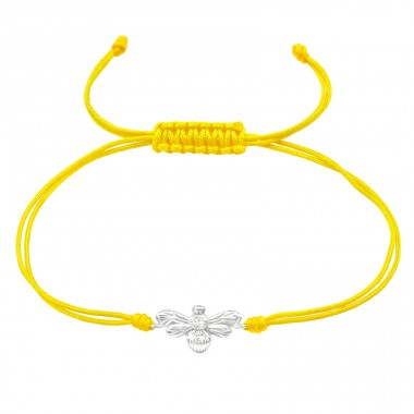 Bee - 925 Sterling Silver + Nylon Cord Bracelets with cords A4S38999