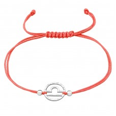Libra Zodiac Sign - 925 Sterling Silver + Nylon Cord Bracelets with cords A4S39000