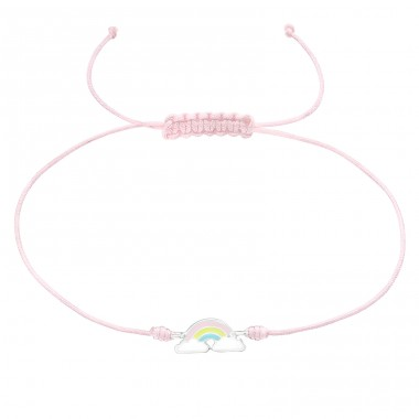Rainbow - Nylon Cord + 925 Sterling Silver Bracelets with cords A4S39665