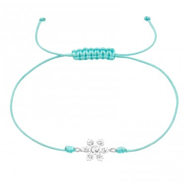Snowflake - 925 Sterling Silver Bracelets with cords A4S39666