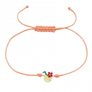 Pineapple Juice - Nylon Cord + 925 Sterling Silver Bracelets with cords A4S39667