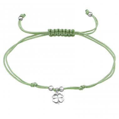 Lucky Clover - Nylon Cord + 925 Sterling Silver Bracelets with cords A4S39670