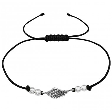Wing - Nylon Cord + 925 Sterling Silver Bracelets with cords A4S39893
