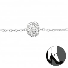 Ball - 925 Sterling Silver Anklets For Foot A4S27632