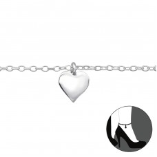 Heart - 925 Sterling Silver Anklets for foot A4S27634