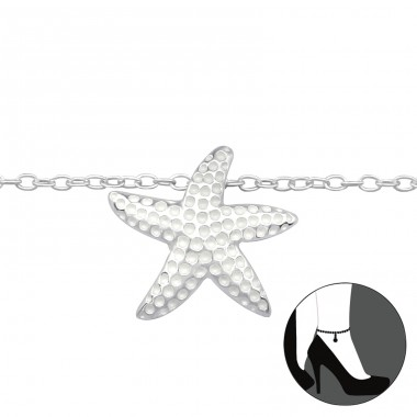 Starfish - 925 Sterling Silver Anklets for foot A4S27641