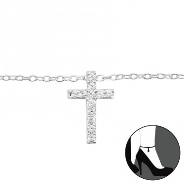 Cross - 925 Sterling Silver Anklets for foot A4S27642