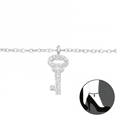 Key - 925 Sterling Silver Anklets for foot A4S27648