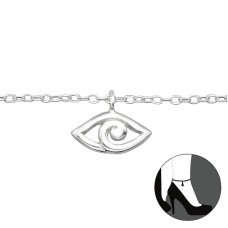 Evil Eye - 925 Sterling Silver Anklets for foot A4S27654