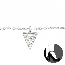 Triangle - 925 Sterling Silver Anklets for foot A4S27655